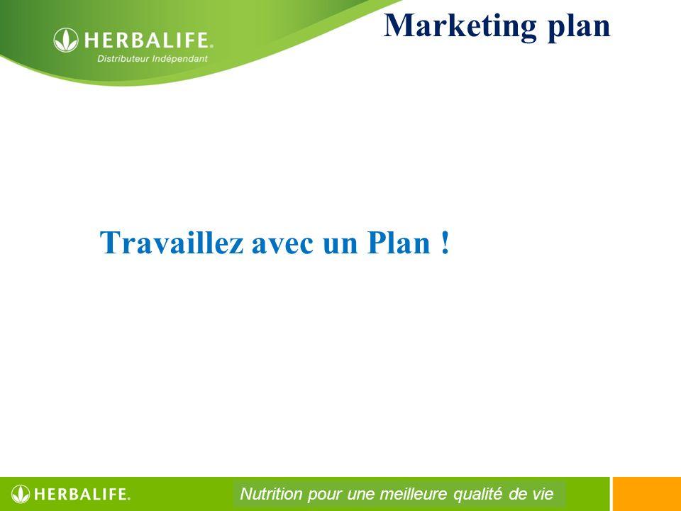 Travaillez avec un Plan ! Marketing plan Nutrition pour une meilleure qualité de vie
