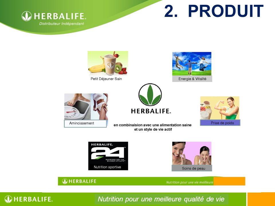 2. PRODUIT Nutrition pour une meilleure qualité de vie
