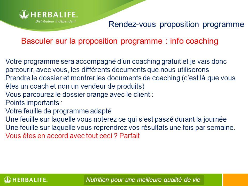 Rendez-vous proposition programme Votre programme sera accompagné dun coaching gratuit et je vais donc parcourir, avec vous, les différents documents