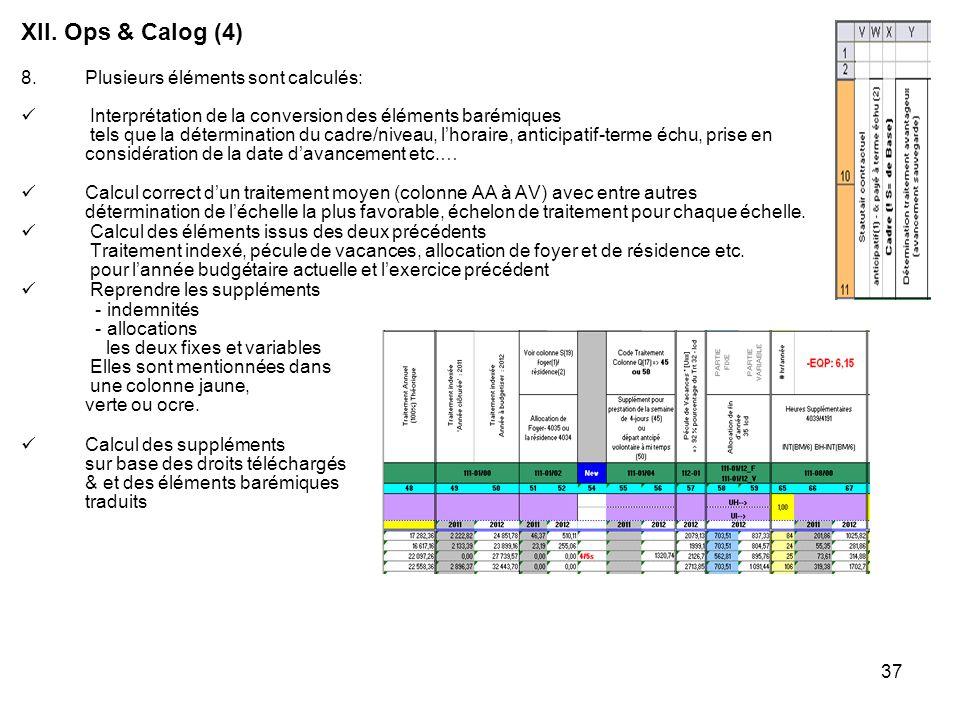 37 8.Plusieurs éléments sont calculés: Interprétation de la conversion des éléments barémiques tels que la détermination du cadre/niveau, lhoraire, an