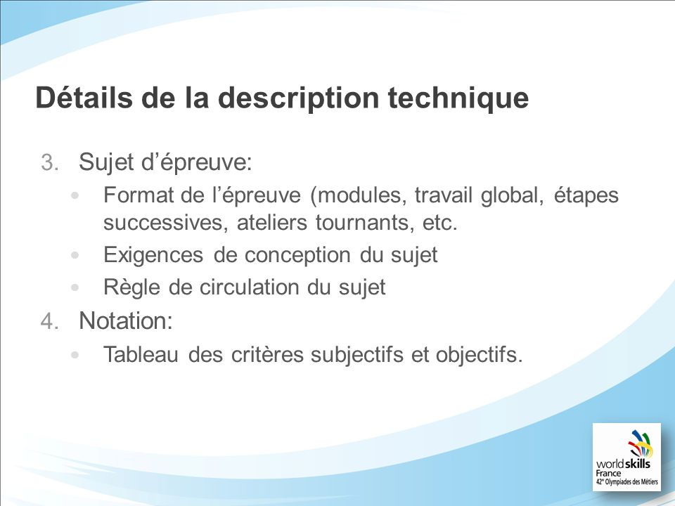 Détails de la description technique 3.