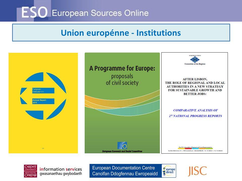 Union européenne - Agences