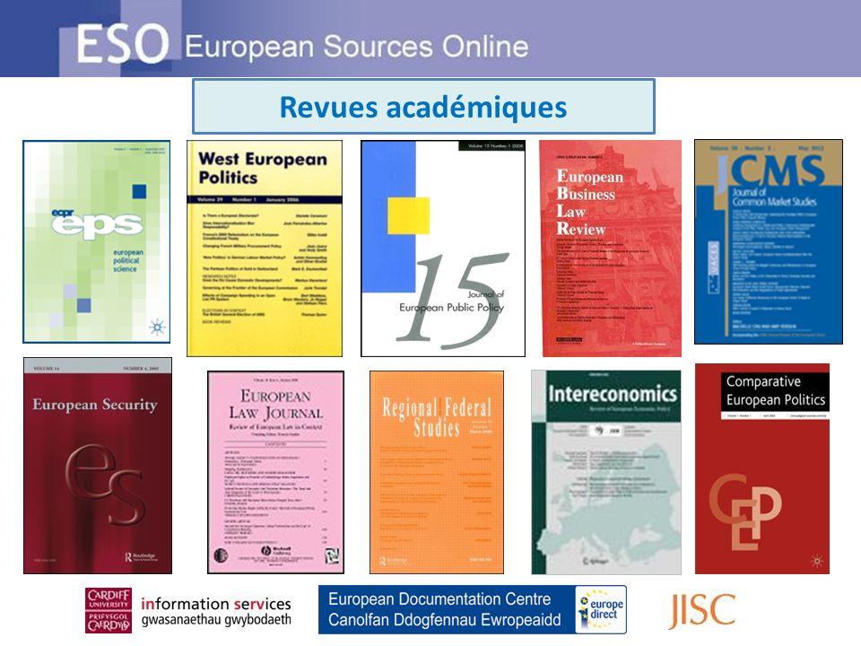 Revues académiques