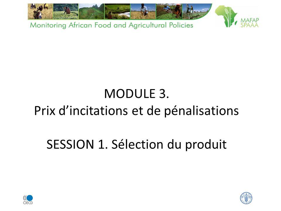 MODULE 3. Prix dincitations et de pénalisations SESSION 1. Sélection du produit