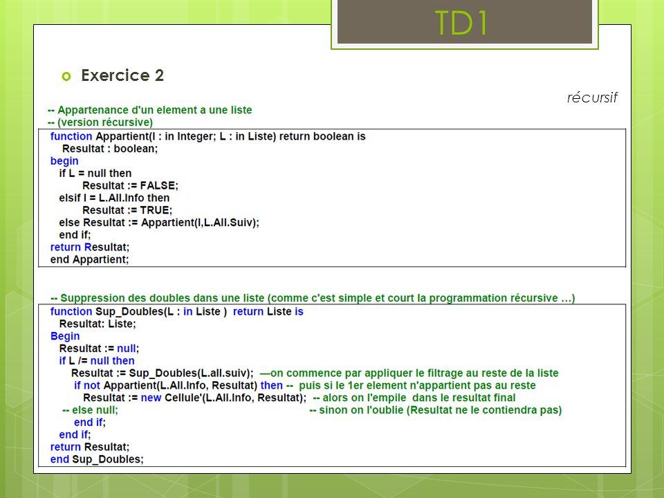 TD1 Exercice 3 : Insertions et suppressions dans une liste doublement chaînée On considère des listes doublement chaînées.