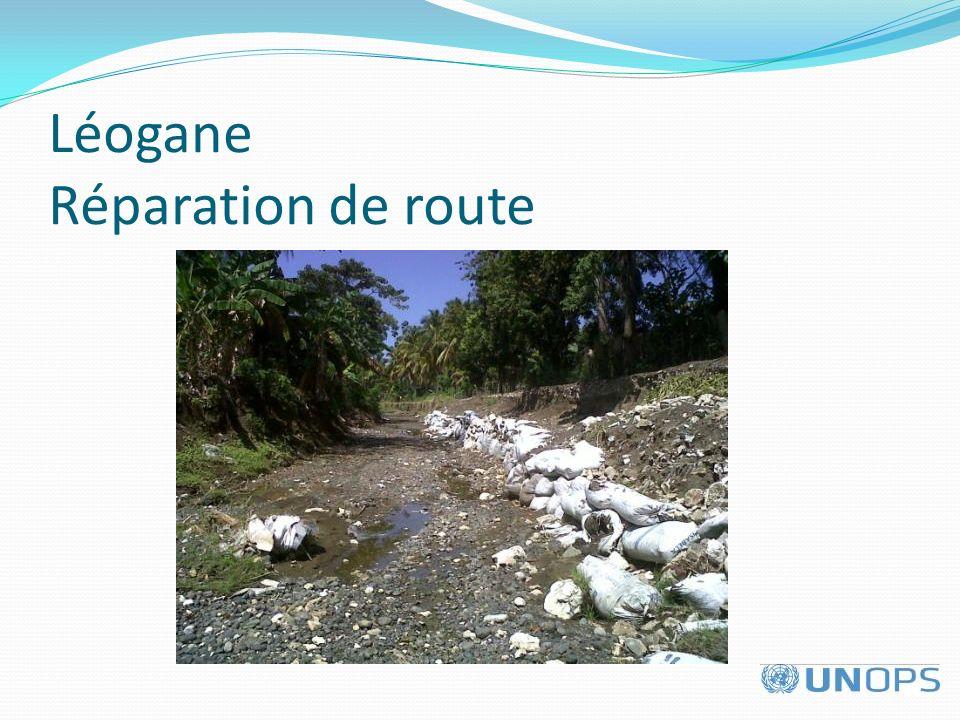 Léogane Réparation de route