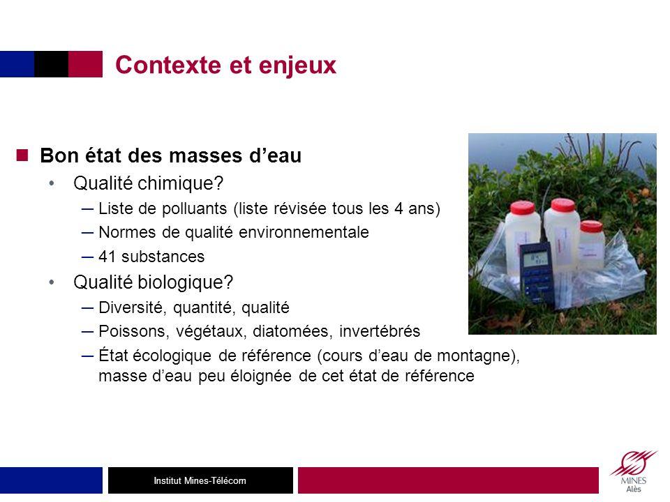 Institut Mines-Télécom Contexte et enjeux Bon état des masses deau Qualité chimique.