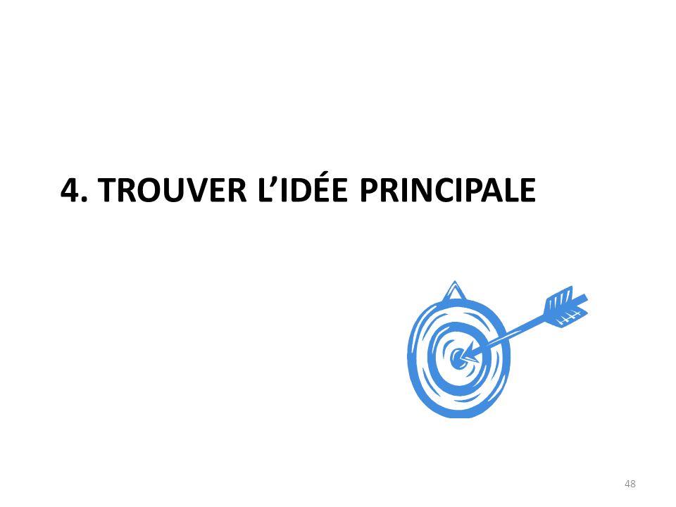 4. TROUVER LIDÉE PRINCIPALE 48