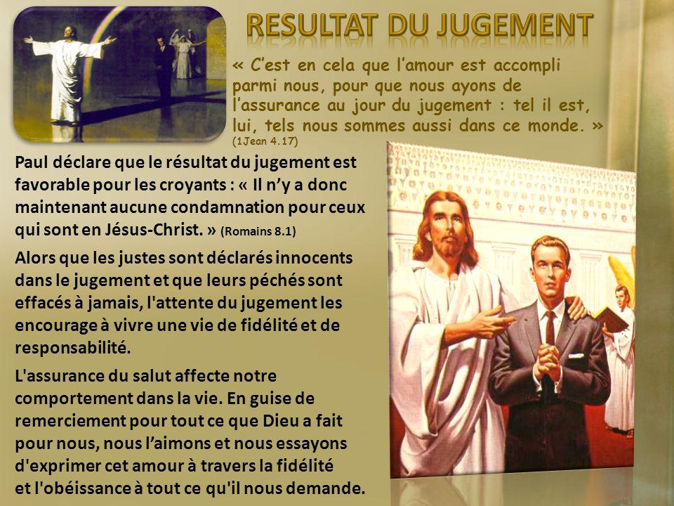 « Cest en cela que lamour est accompli parmi nous, pour que nous ayons de lassurance au jour du jugement : tel il est, lui, tels nous sommes aussi dan