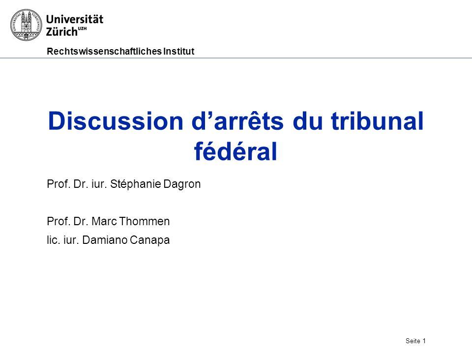 Rechtswissenschaftliches Institut Prof.Dr. iur.