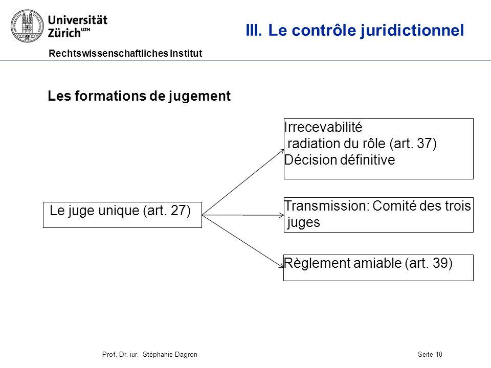 Rechtswissenschaftliches Institut Seite 11 III.