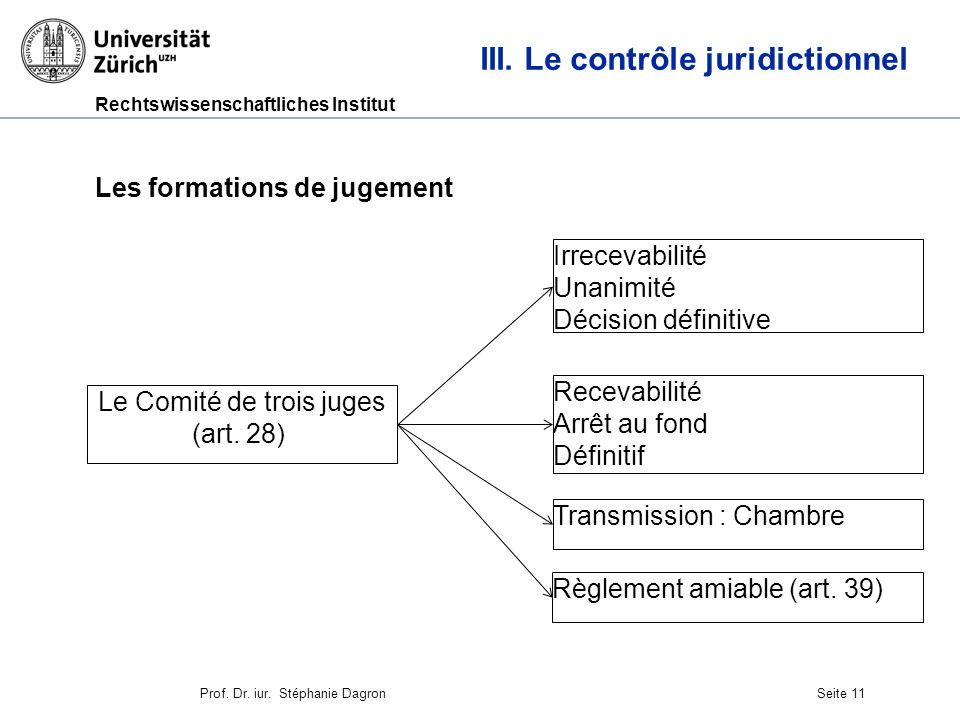 Rechtswissenschaftliches Institut Seite 12 III.