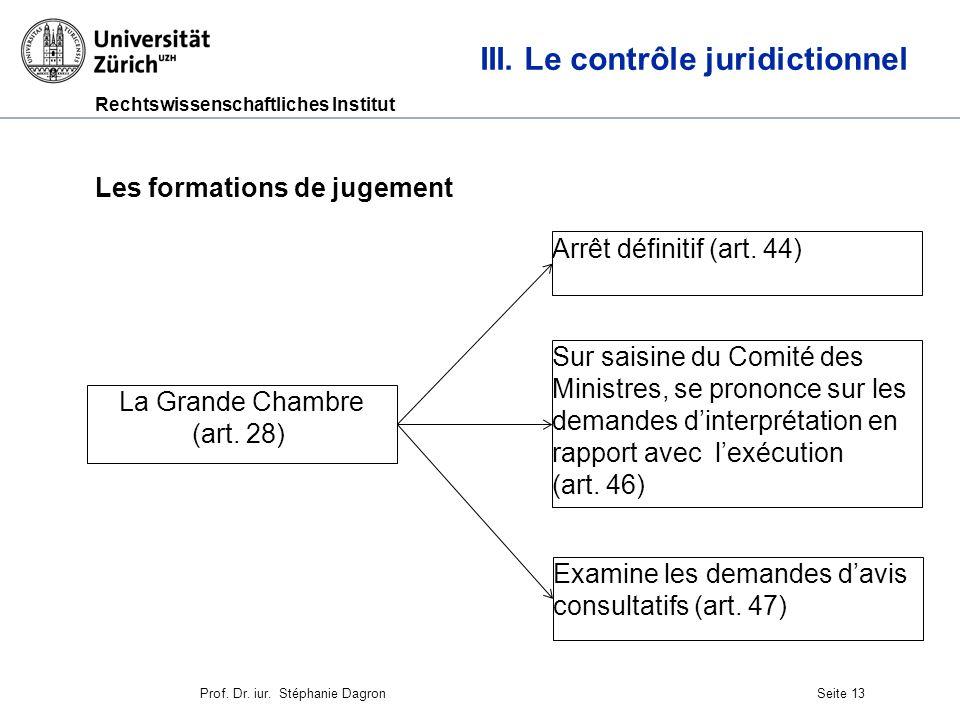 Rechtswissenschaftliches Institut Seite 14 III.