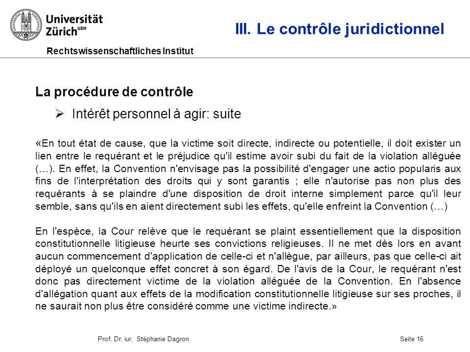 Rechtswissenschaftliches Institut Seite 17 III.