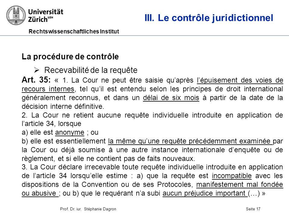 Rechtswissenschaftliches Institut Seite 18 III.