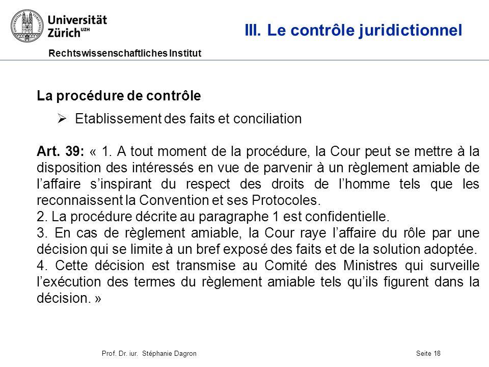 Rechtswissenschaftliches Institut Seite 19 III.