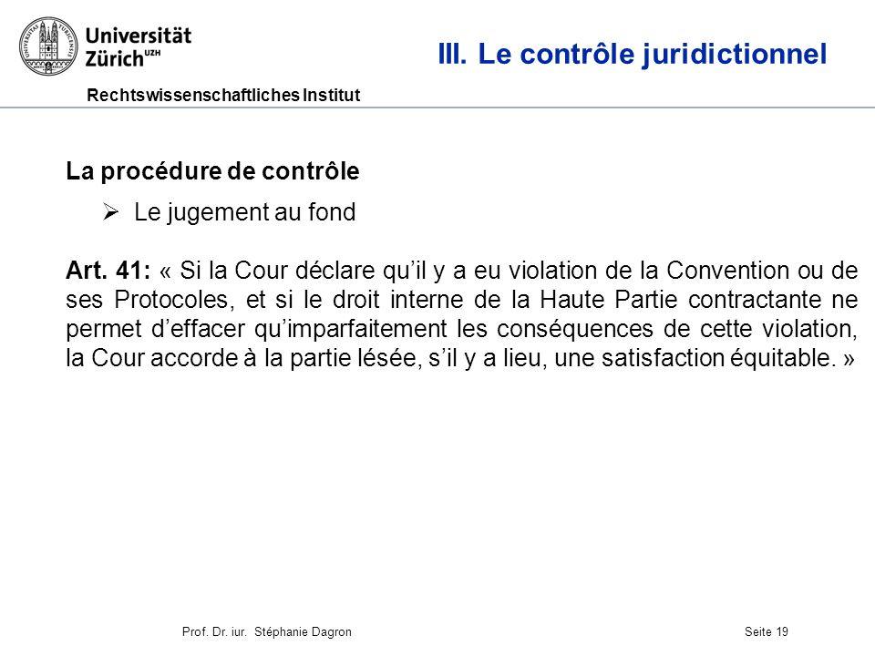 Rechtswissenschaftliches Institut Seite 20 III.