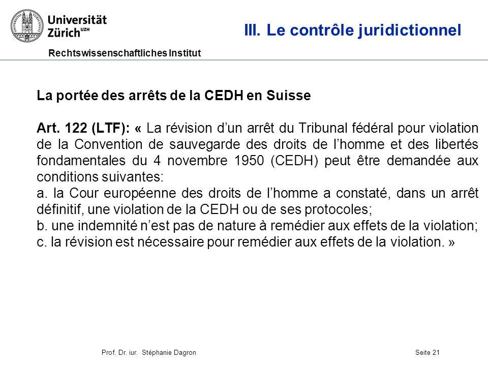 Rechtswissenschaftliches Institut Seite 22 III.