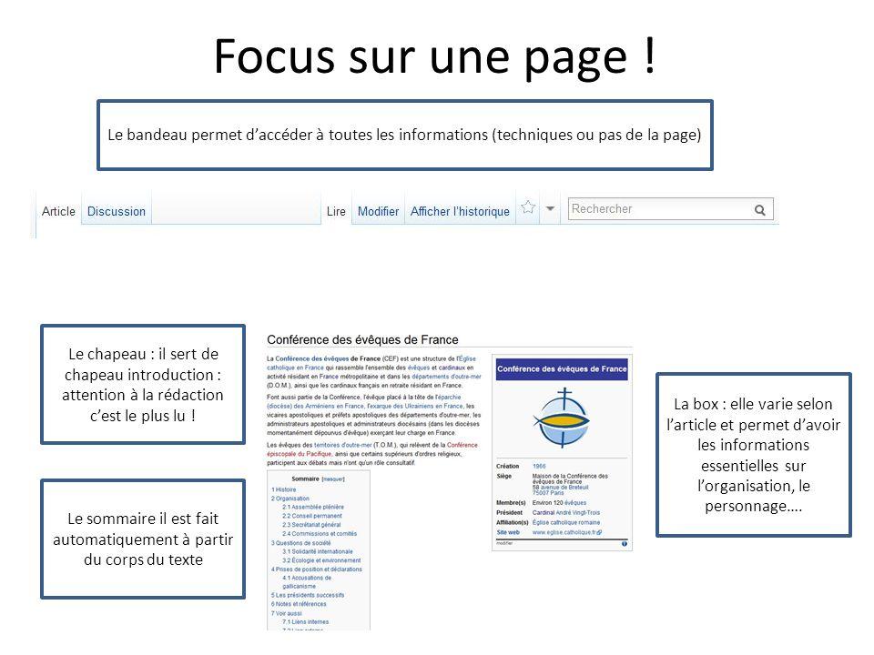 Focus sur une page .