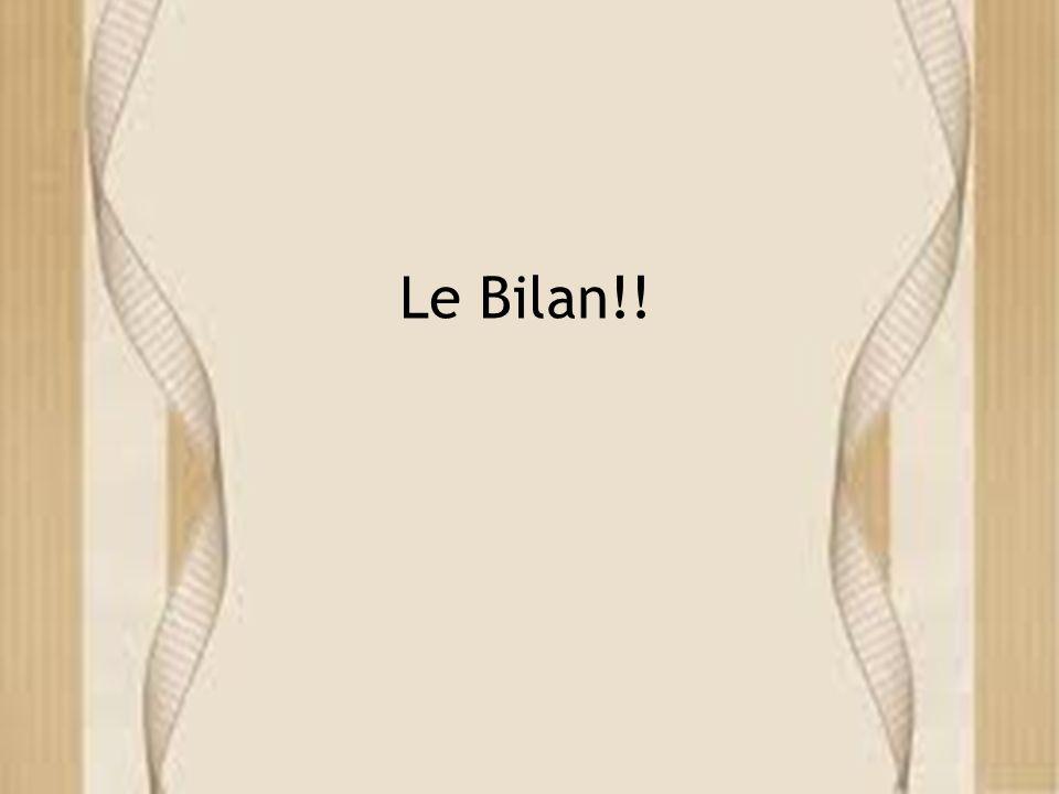Le Bilan!!