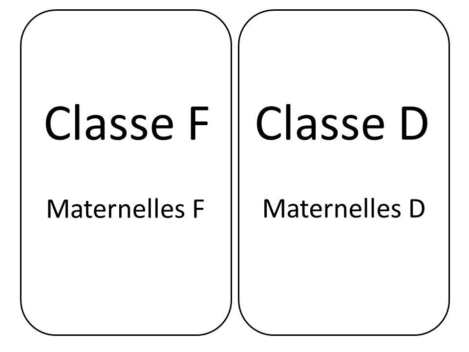 Classe FClasse D Maternelles F Maternelles D