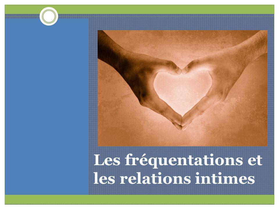 ACTIVITÉ À FAIRE EN CLASSE Situations de fréquentations Adaptation de : Trousse de la Campagne du ruban blanc : Promouvoir des relations égalitaires et saines.