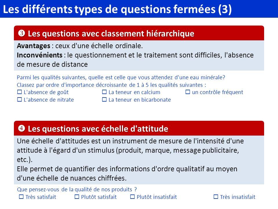 Questions complètement ouvertes, qui proposent au répondant de répondre librement à la question, par une ou plusieurs phrases.