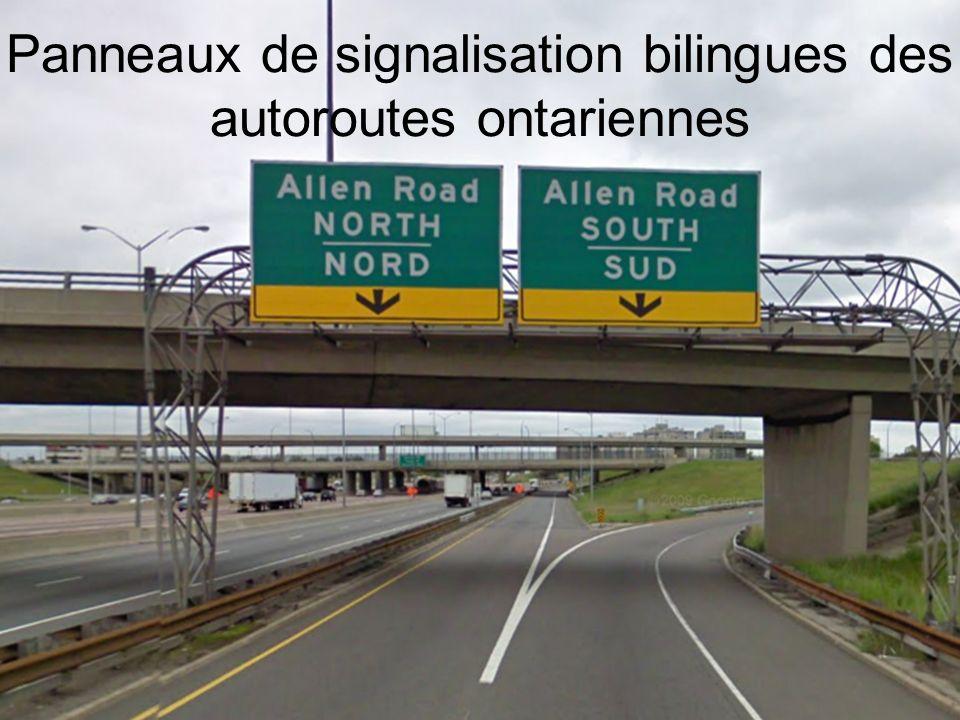 Difficultés liées aux panneaux de signalisation à messages variables Jusquà présent, les contraintes technologiques ont empêché laffichage de messages en français sur les panneaux de signalisation à messages variables.