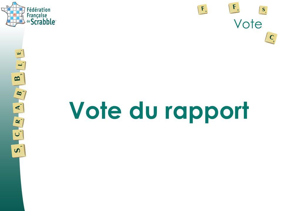 Vote Vote du rapport