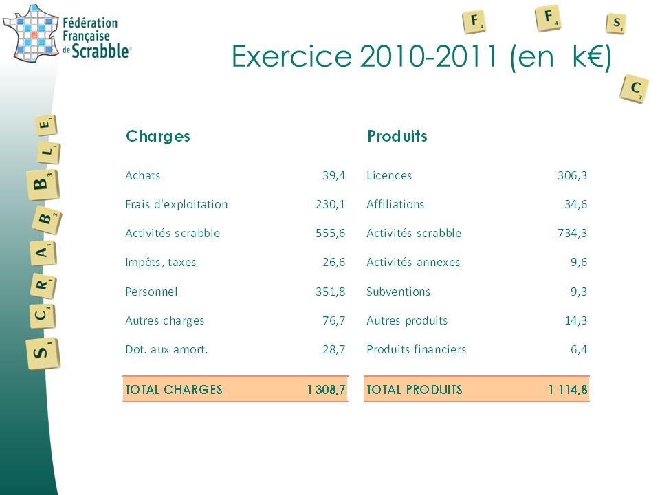 Exercice 2010-2011 (en k)