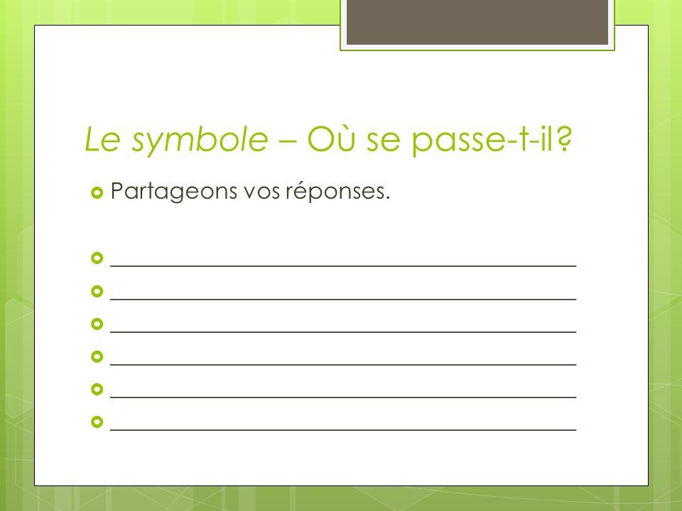 Le symbole – Qui la écrit.Prenez un paquet.