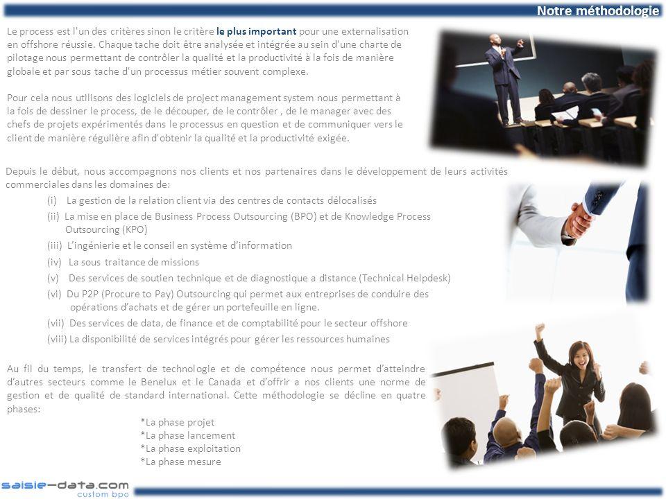 Depuis le début, nous accompagnons nos clients et nos partenaires dans le développement de leurs activités commerciales dans les domaines de: (i) La g