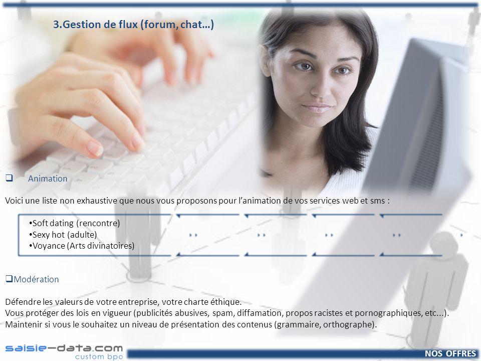 NOS OFFRES 4.Saisie de données Saisie industrielle Nous vous offrons une intervention de qualité, rapide et rigoureuse.