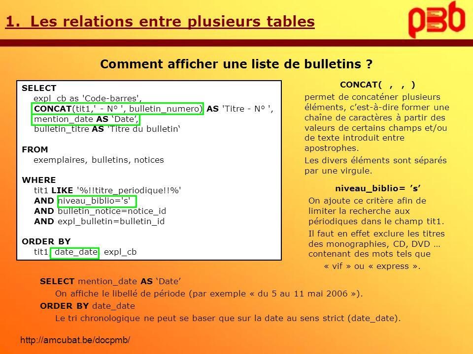 2.Les requêtes de sélection interactive Comment rendre une requête interactive .