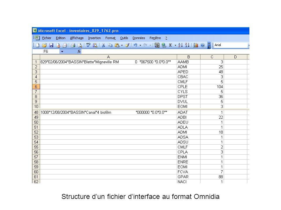 Structure dun fichier dinterface au format Omnidia