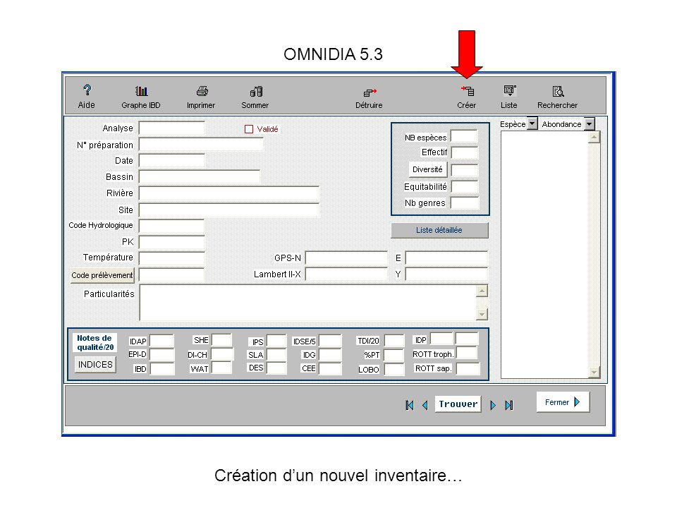 OMNIDIA 5.3 Création dun nouvel inventaire…
