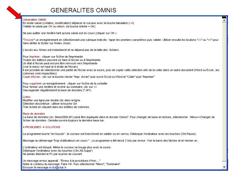 GENERALITES OMNIS