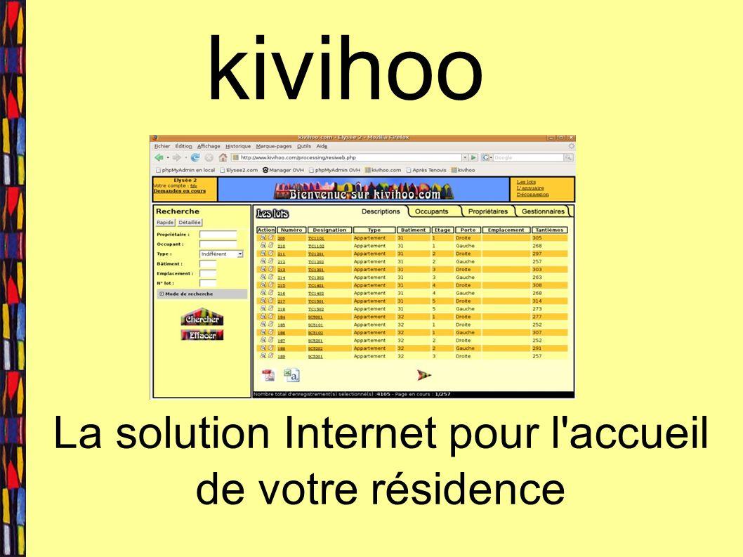 kivihoo La solution Internet pour l accueil de votre résidence
