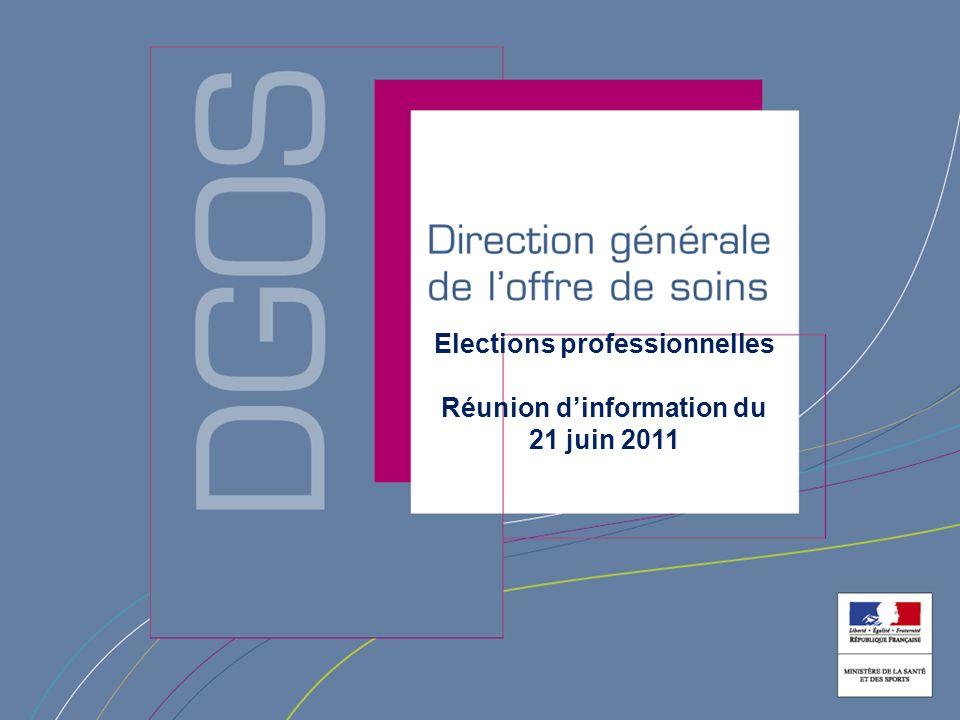 Elections professionnelles Réunion dinformation du 21 juin 2011