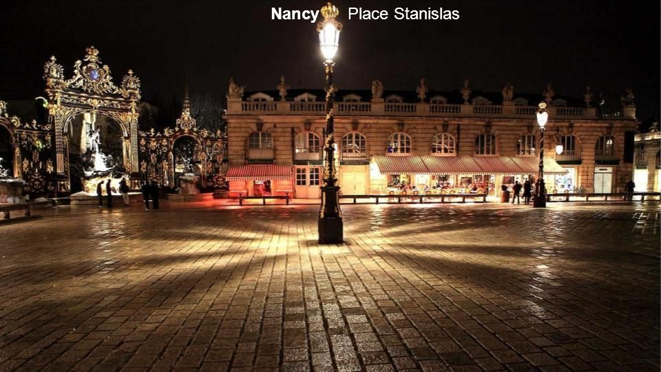 Nancy place Stanislas à Noël