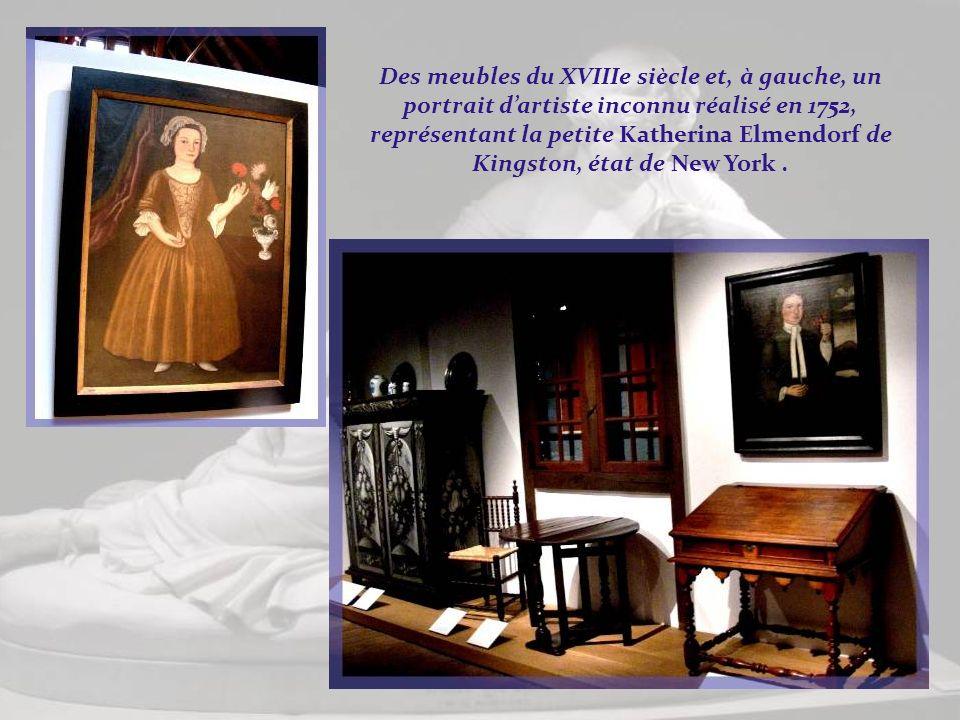 Ameublement en chêne de la fin du XVIIe siècle. Ces meubles étaient réalisés par des immigrants artisans, ayant apporté avec eux leurs traditions. Ils