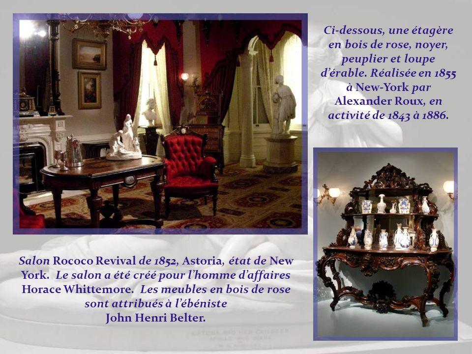 DEastman Johnson (1824- 1906),huile sur toile, Christmas- Time, The Blodgett Family, 1864. Et de Jérôme B. Thompson (1814- 1886), Fleurs dété, une hui