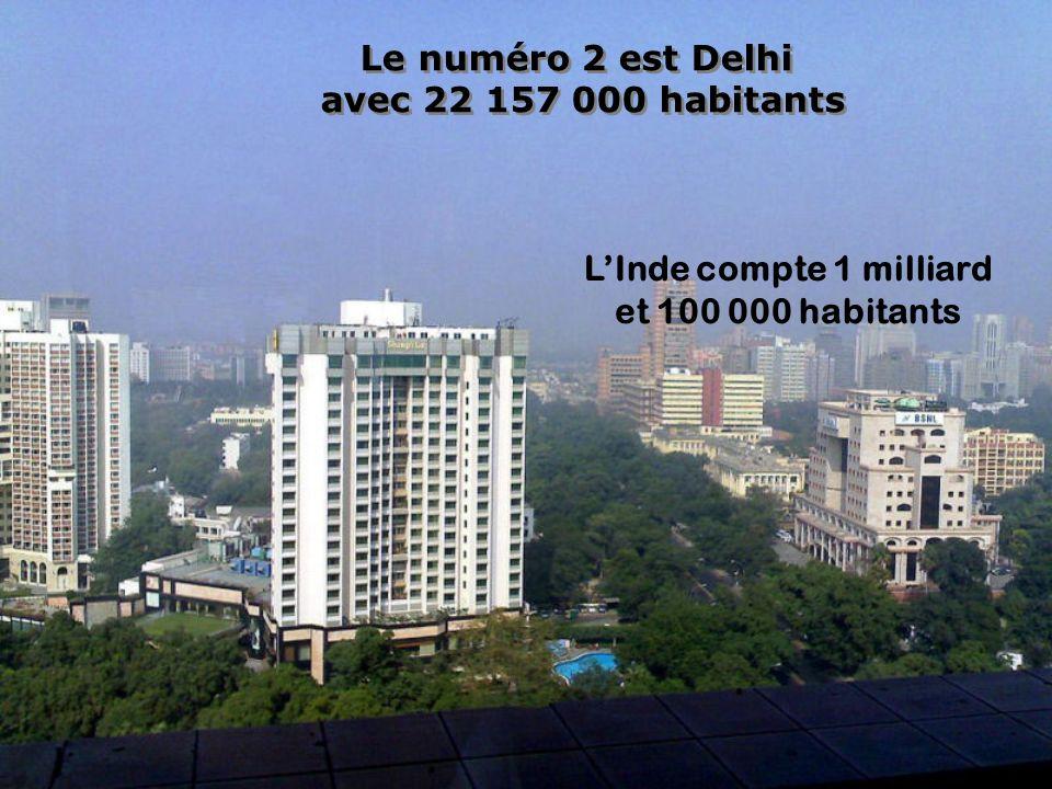 Le numéro 3 est Sao Paulo avec 20 262 000 habitants Une agglomération qui croît à pas de géants