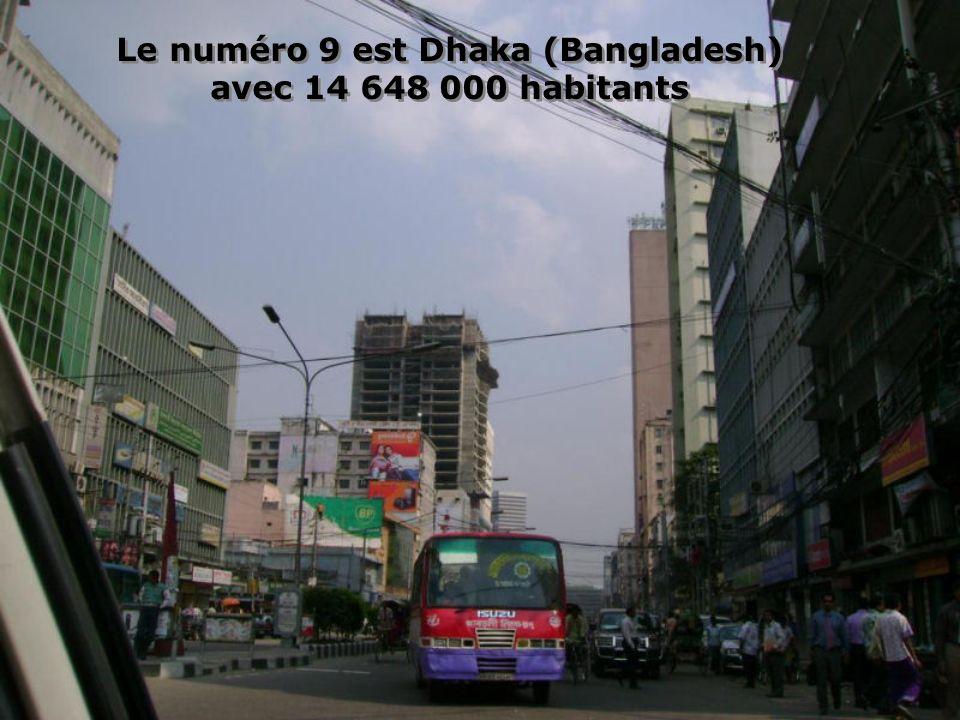 Le numero 10 est Karachi avec 13 125 000 habitants