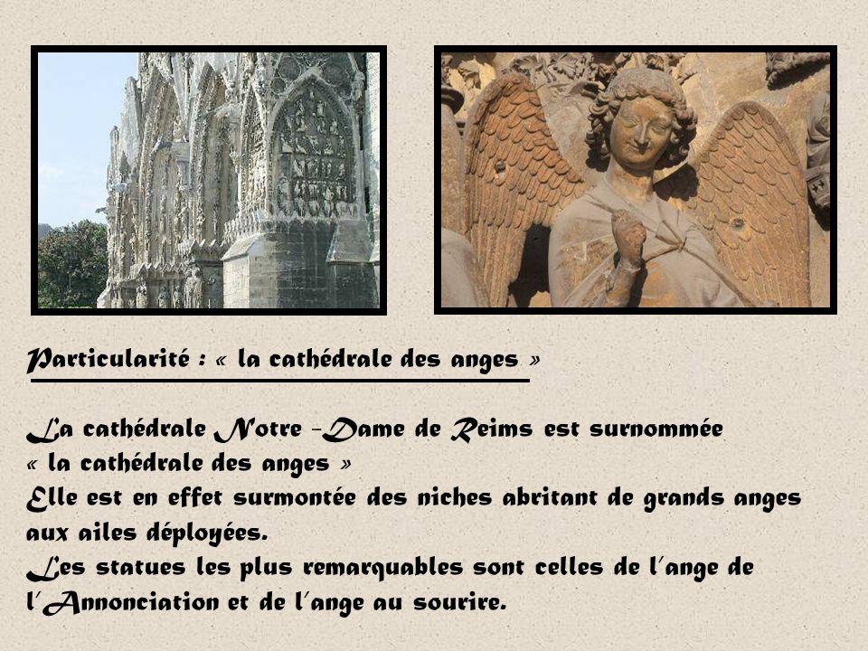 Lhistoire de la cathédrale est indissociable de celle du sacre des rois de France. Cest là que Clovis, premier roi des Francs, fut baptisé en 498-499.