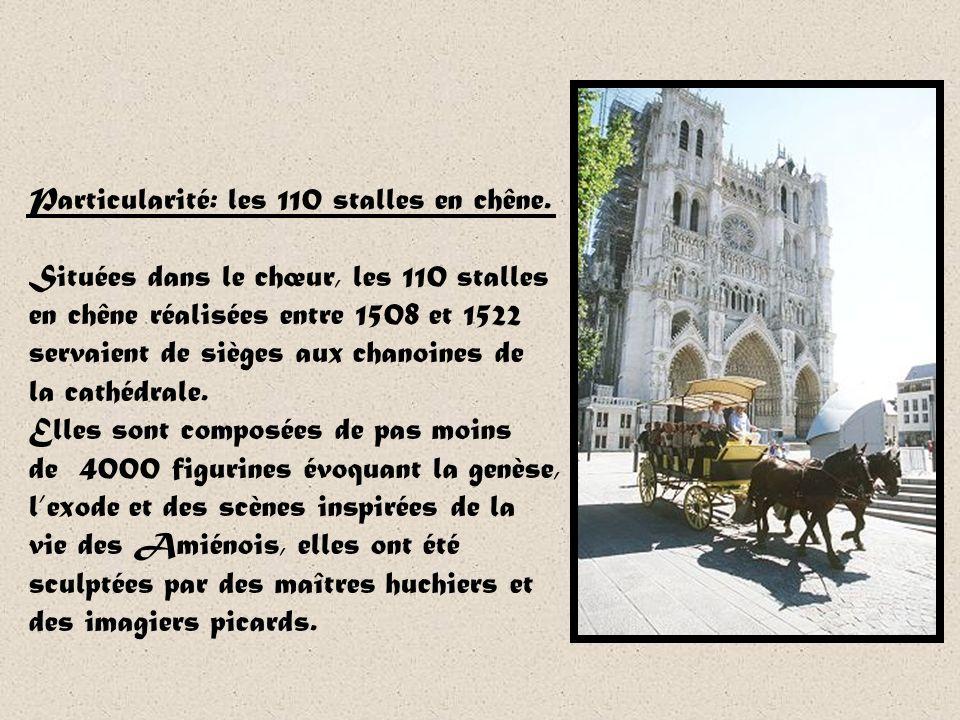 La cathédrale dAmiens est lune des plus grandes églises gothiques « classique » du XIIIème siècle. Avec son volume intérieur de 200 000m3, cest même l