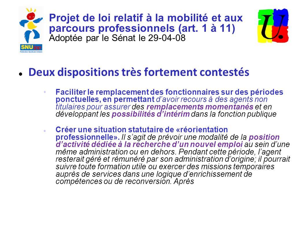Projet de loi relatif à la mobilité et aux parcours professionnels (art.