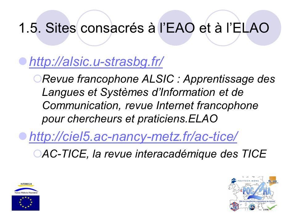 http://alsic.u-strasbg.fr/ Revue francophone ALSIC : Apprentissage des Langues et Systèmes dInformation et de Communication, revue Internet francophon