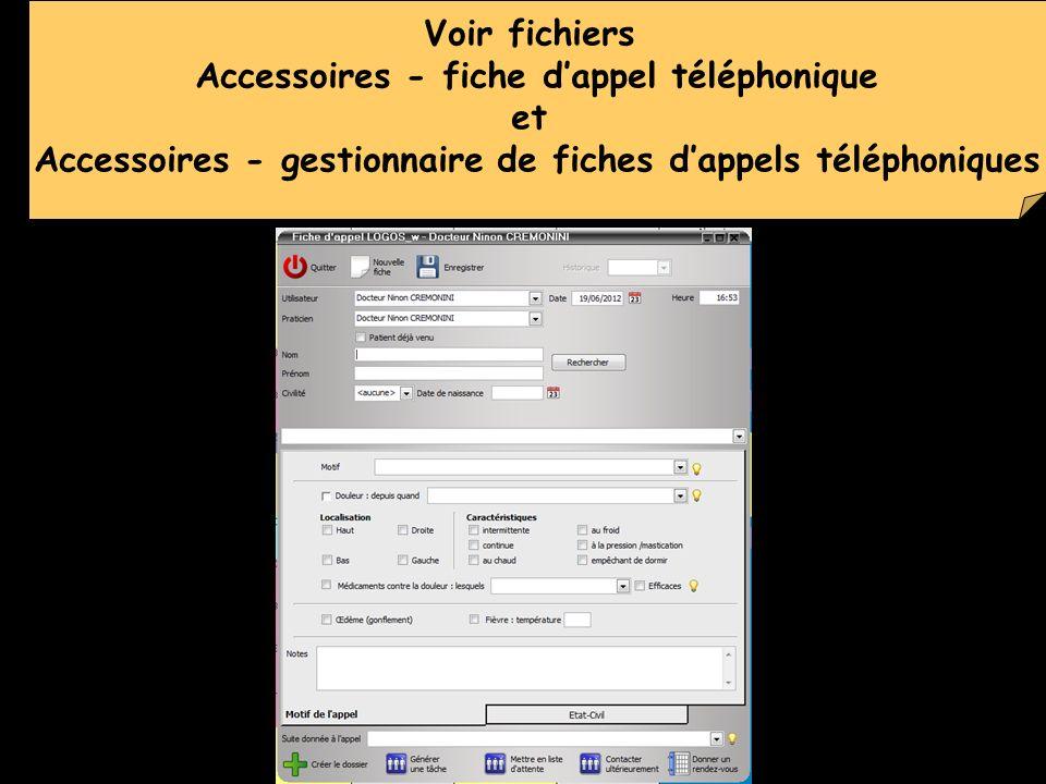 Voir fichiers Accessoires - fiche dappel téléphonique et Accessoires - gestionnaire de fiches dappels téléphoniques
