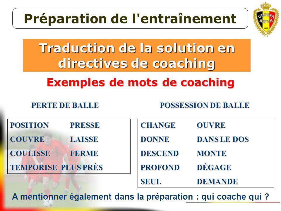 Importance de la nature des réponses aux 4 questions sur la didactique (contenu et forme) de votre coaching ! * QUI les joueurs que vous coachez * QUO
